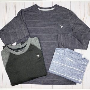 OLD NAVY Boys Bundle - 3 Long Sleeve Active Tops